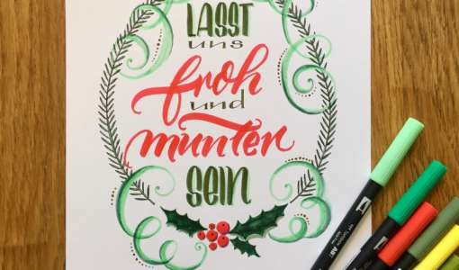 Weihnachts-Aqua-Lettering