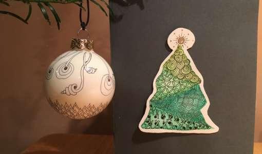 Zentangle Weihnachtskurs - In die Entspannung zeichnen