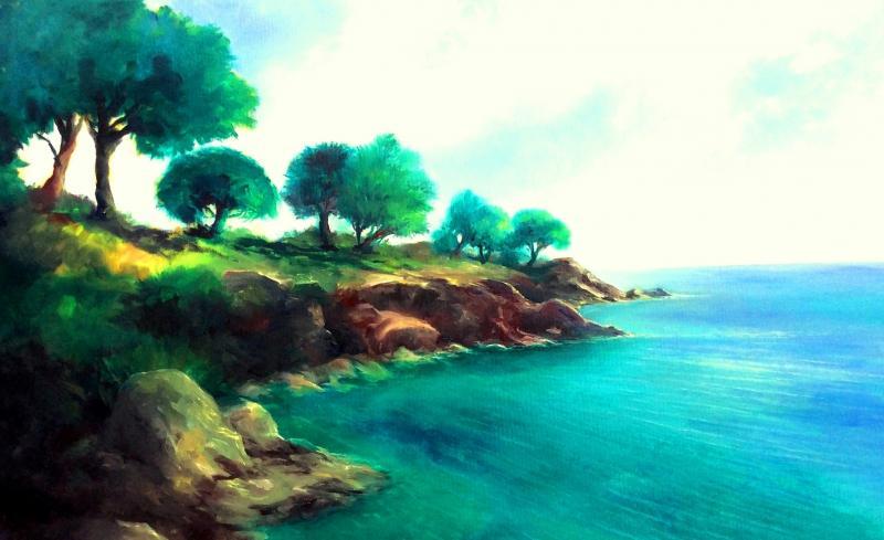 Im Licht des Südens - Mediterranes mit wasservermalbaren Ölfarben