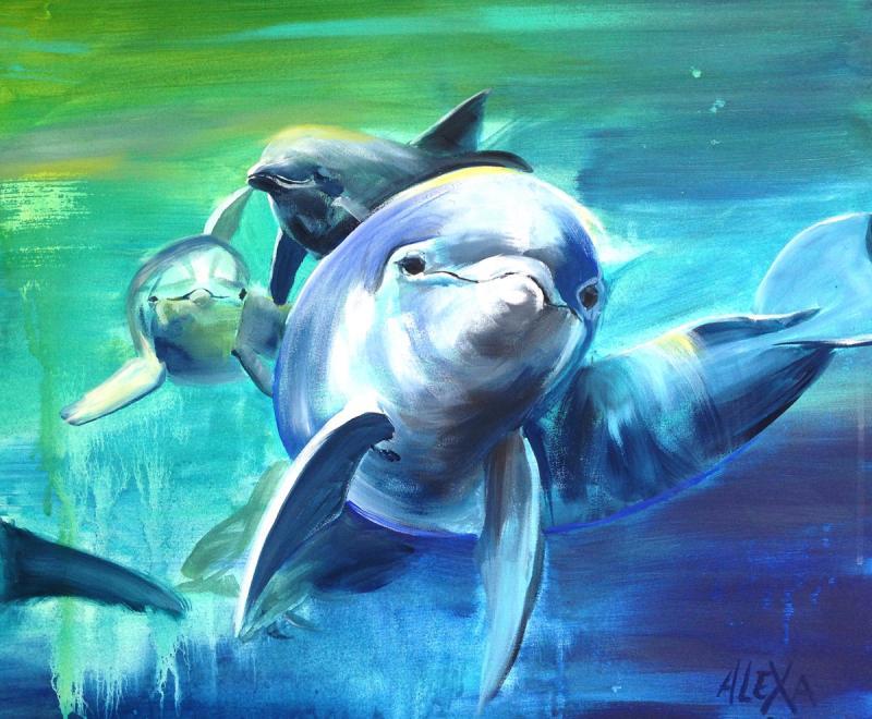 Let it flow - Acryl trifft Aquarell