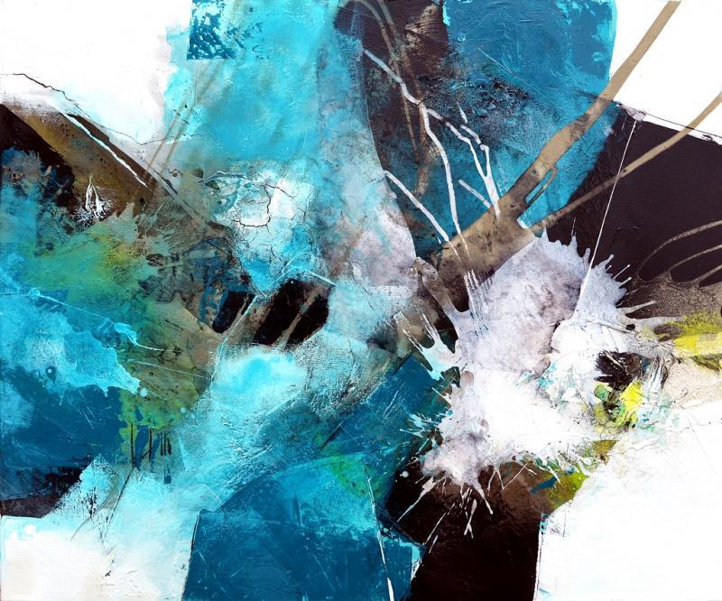 Kunstwoche mit Tom Kree: < Crazy Days >  Bitumen / Kaffee / Beizen / Baumaterialien