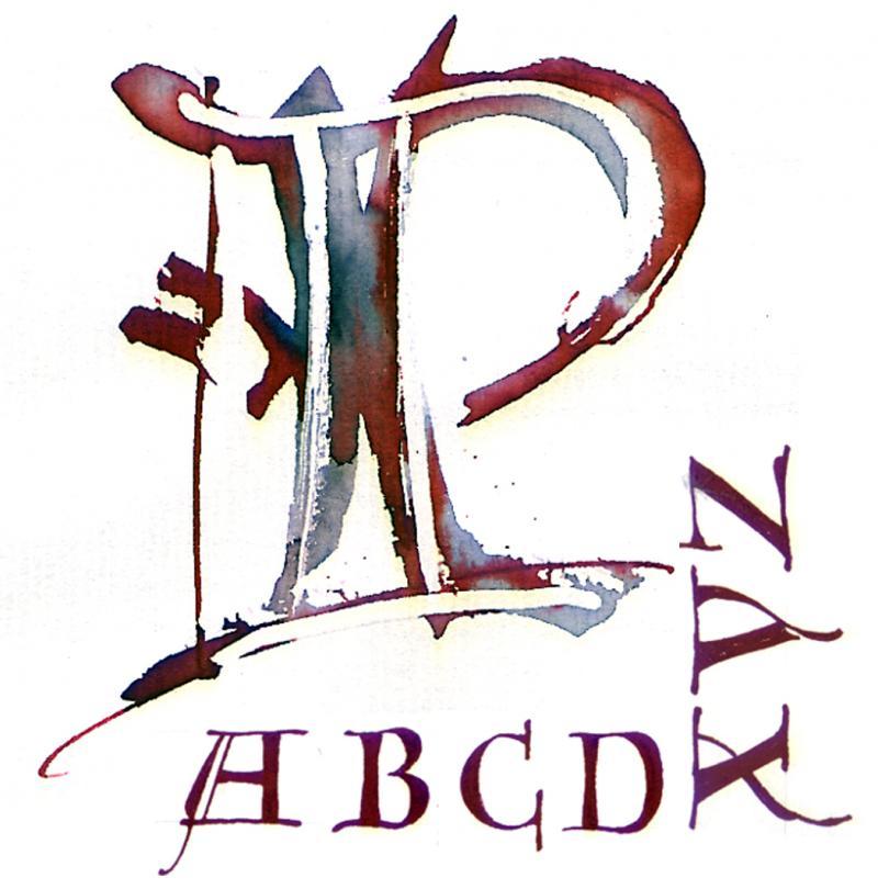 Kalligrafie und Schmuck-Initialien