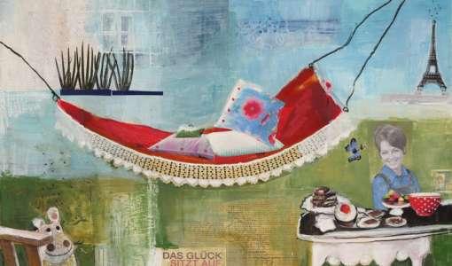 Happy Life - Collagenmalerei