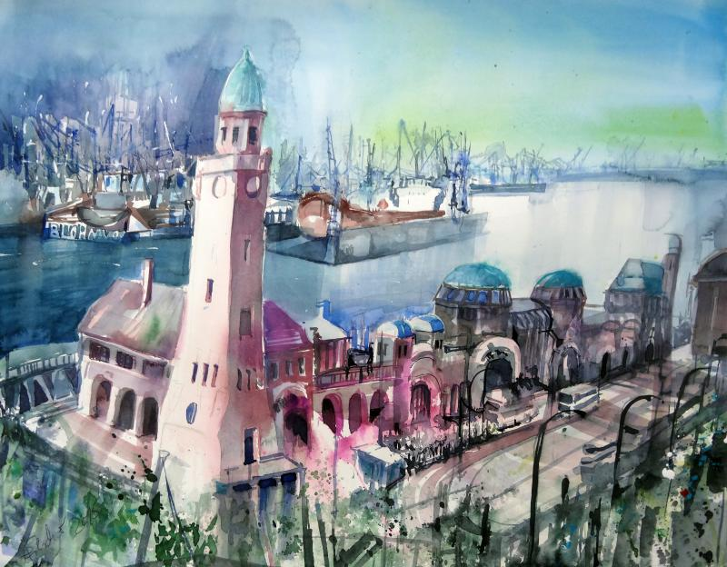 Faszination Aquarell: Stadt - Land - Fluss