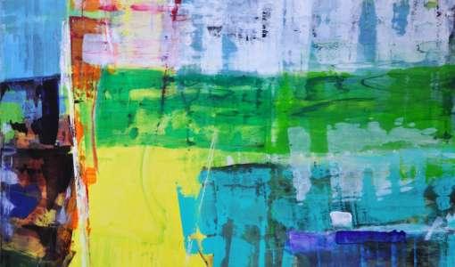 Experimentieren mit Acryl - Das Spiel mit Farben und Formen
