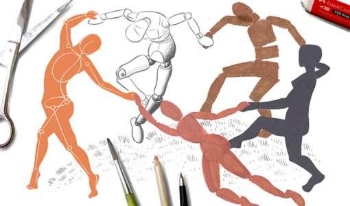 Ganz einfach Zeichnen lernen - Grundlagen der Figur