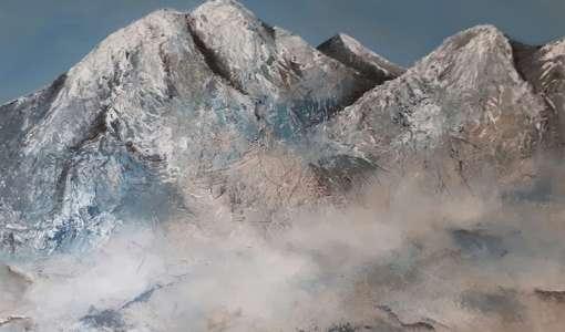 Berglandschaften- abstrakt, mystisch und ausdrucksstark