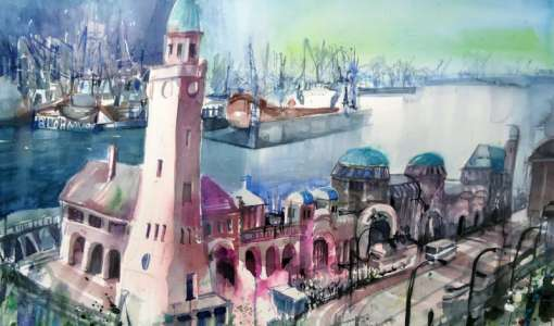 Faszination Aquarell: Stadt - Land - Fluss