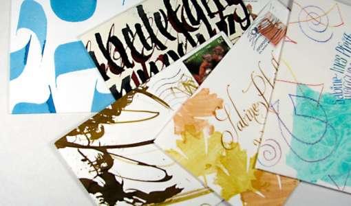 Kalligrafie - Weihnachtspost einmal anders