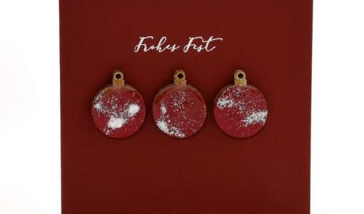 Kreatives Stempeln - Weihnachtskarte