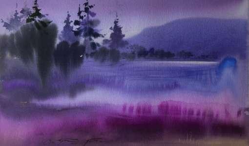 Dei Grenze zwischen Abstraktion und Realität: Aquarellmalerei Nass- in-Nass