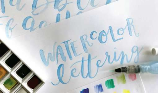Watercolor Lettering