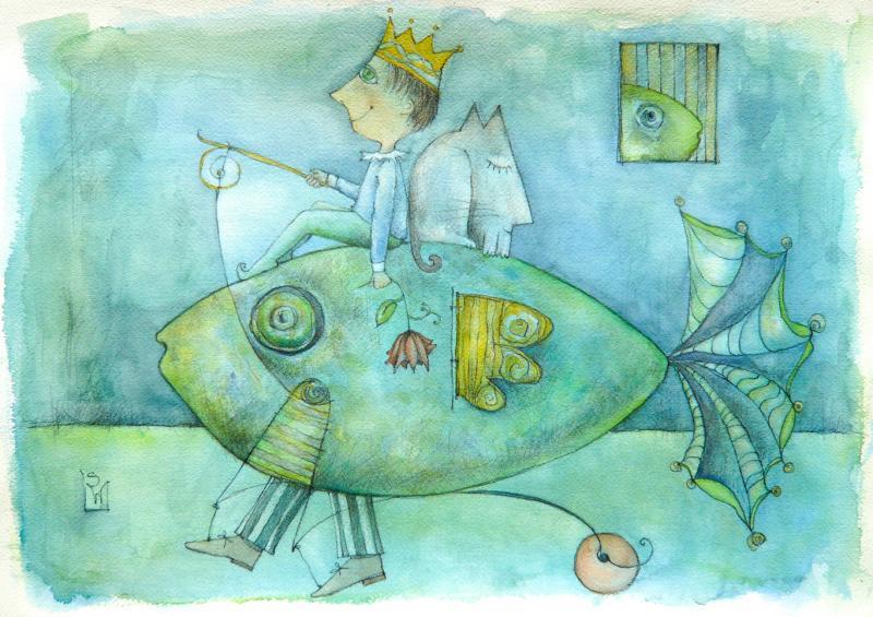 *Farbe, Form und Fantasie - Aquarellauswaschtechnik in Kombination mit klassischer Bleistiftzeichnung