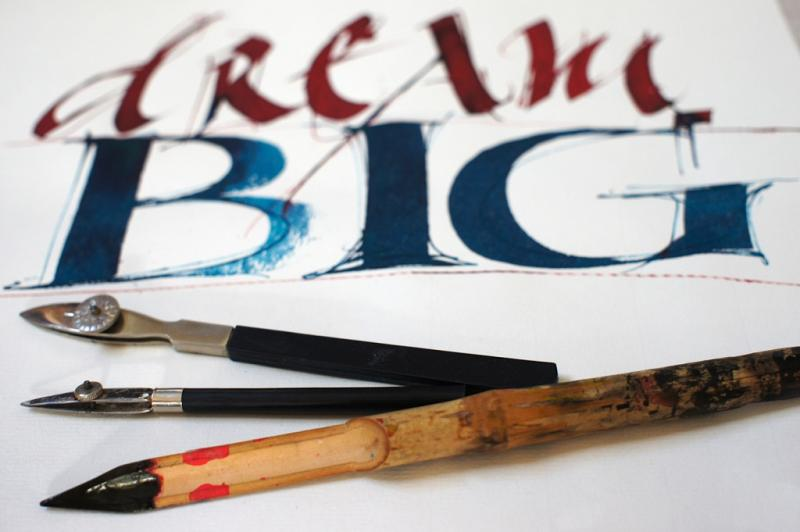 Kalligrafie - klassisch und experimentell