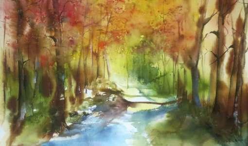 **Farbstarke Landschaften in Aquarell