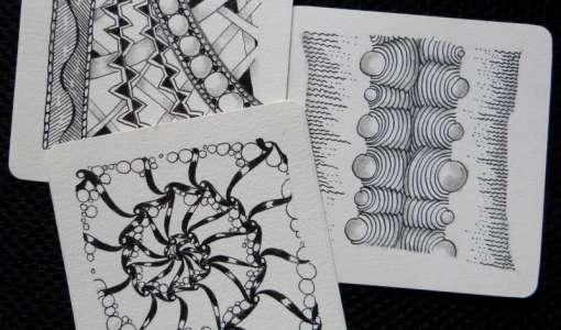 """Zentangle®-Tageskurs: """"Zeichnen Sie sich glücklich!"""""""