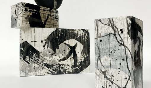 Von bemalten Papieren zum abstrakten Bild und zum 3-dimensionalen Kunst-Objekt