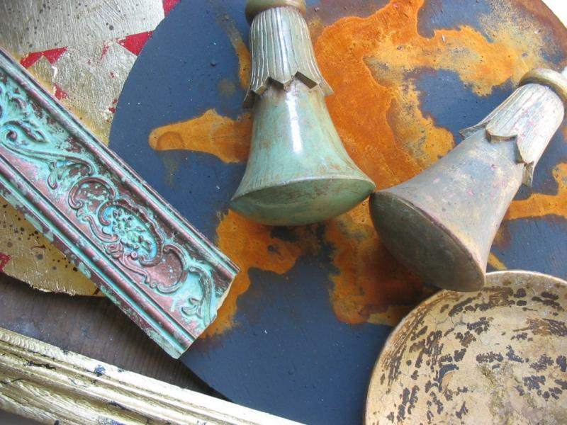 Mit Rost, Grünspan und Patina experimentieren, malen und verzaubern