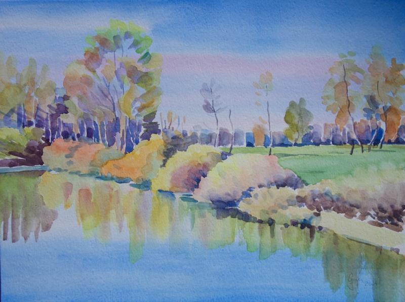 Bayrische Landschaften in Aquarell