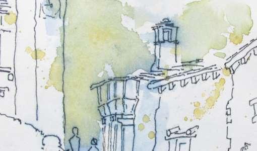 Reiseskizzen und Urban Sketching
