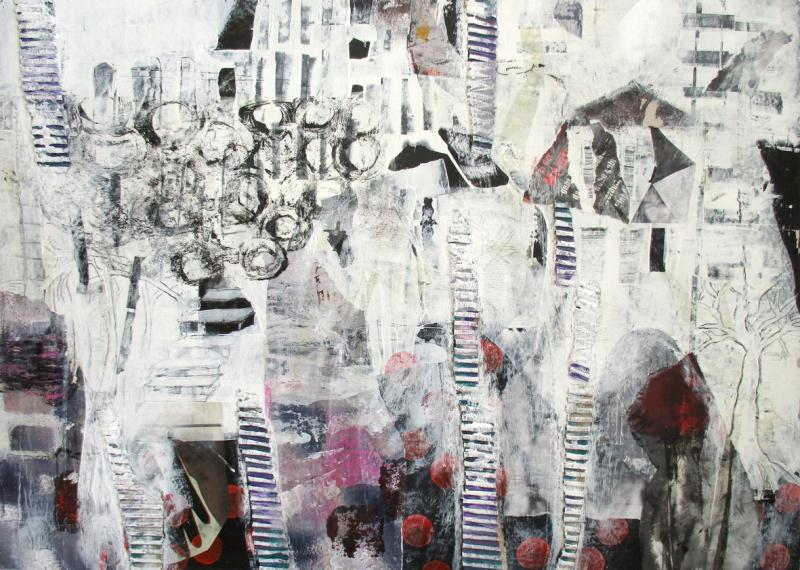 Cross Over - Freie Malerei und Collage