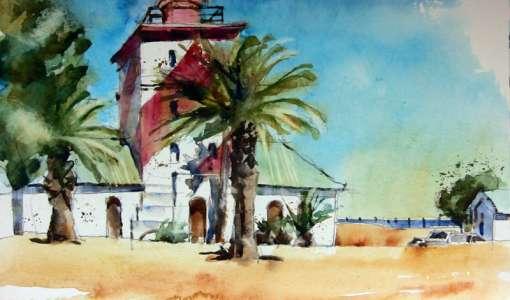 Big Brush Watercolor - Aquarellmalen mit großen Flachpinseln und 10 Farben