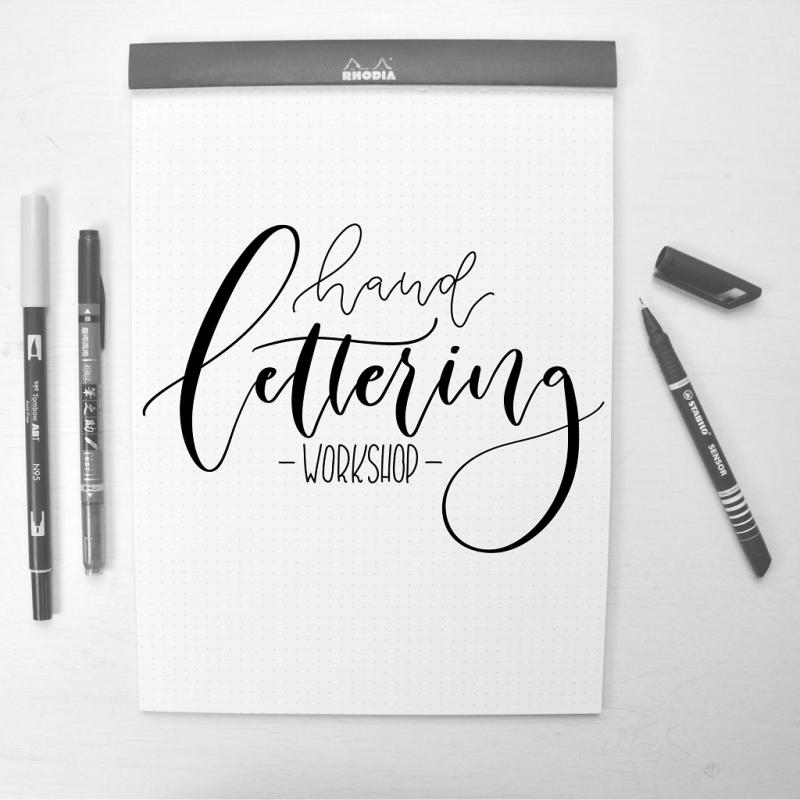 Hand- und Brushlettering Workshop
