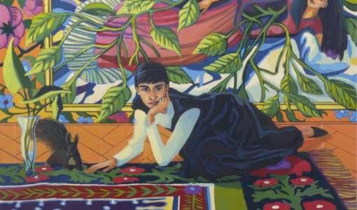 Selbstporträts in Acryl - die spielerische Auseinandersetzung mit dem Selbst