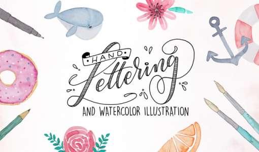 Handlettering und Watercolor Illustrationen