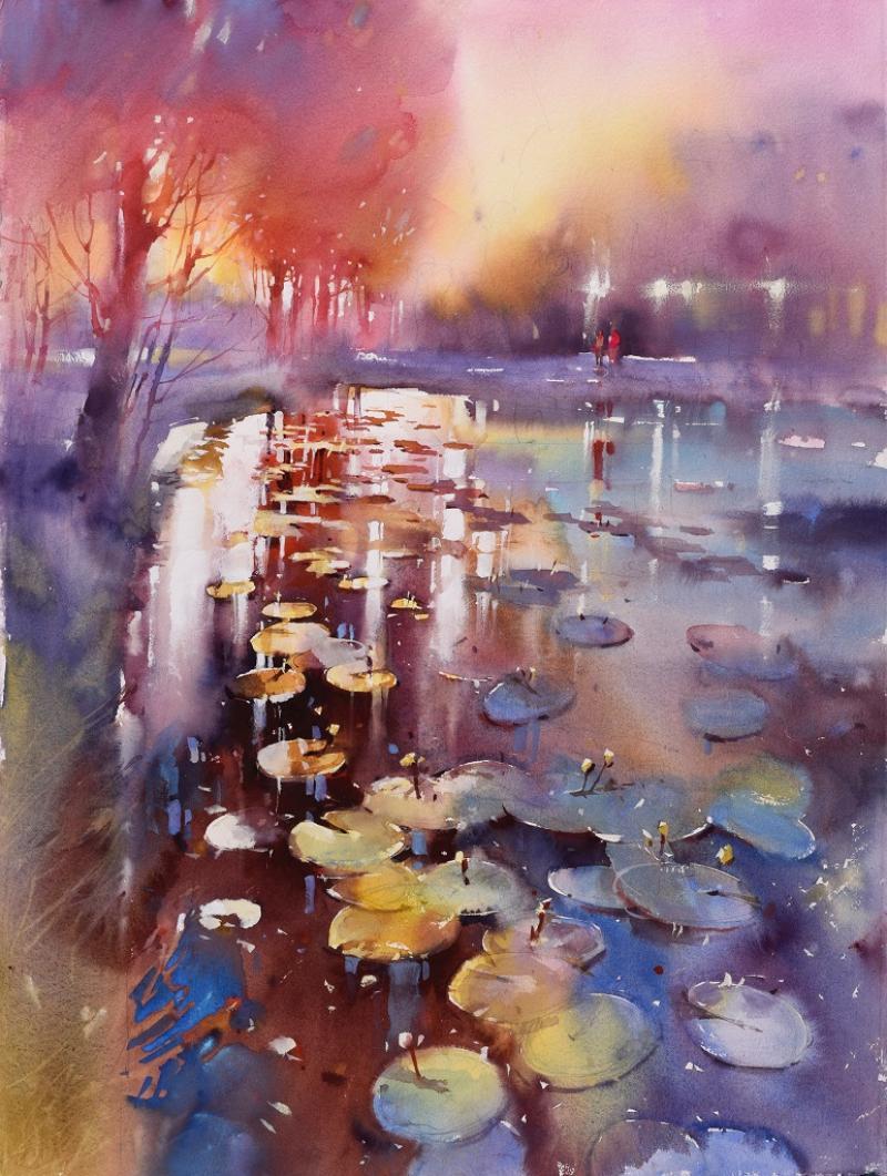 Landschaft in der Aquarellmalerei