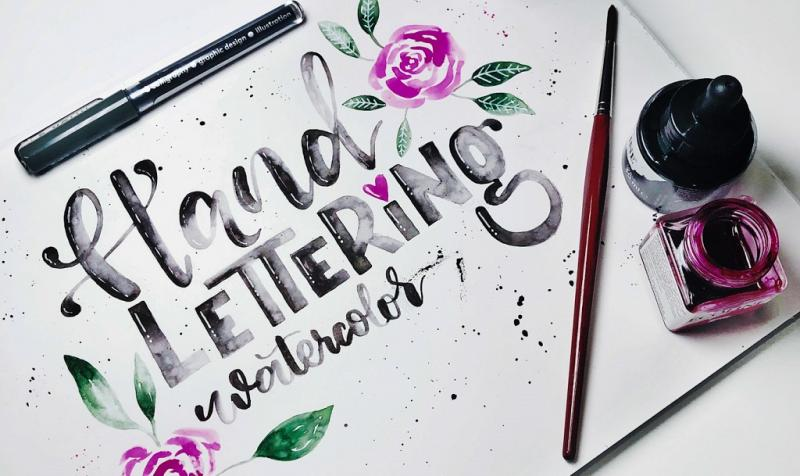 Handlettering & Watercolor
