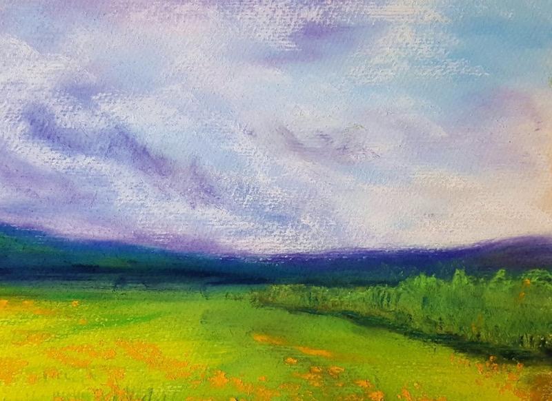*Zwischen Himmel und Erde - leuchtende Pastell-Landschaften
