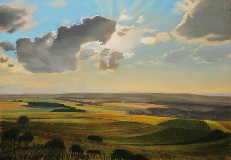 Das moderne Pastell - Wolken malen mit Softpastellen