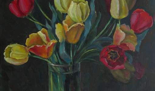Blumen, Blüten, Pflanzen in Öl