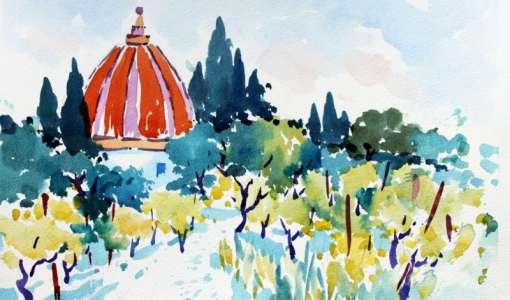 Virtuelle Malreise in die Toskana