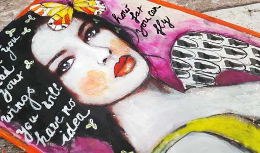 Wild One - Art Journaling & Mixed Media