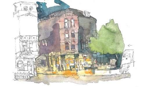 Aquarell für Illustrationen und Urban Sketching
