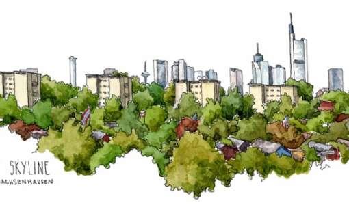 Texturen im Urban Sketching