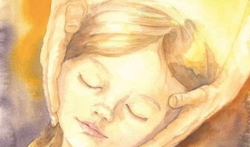Lichtvolles Kinderporträt in Aquarell