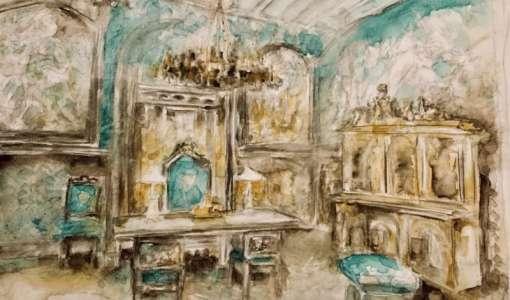 Magische Orte - Konstruktion und Aquarell