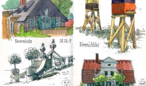 Unterwegs mit dem Skizzenbuch: Kontur trifft Farbe