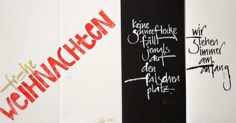 Moderne Kalligrafie zur Weihnachtszeit