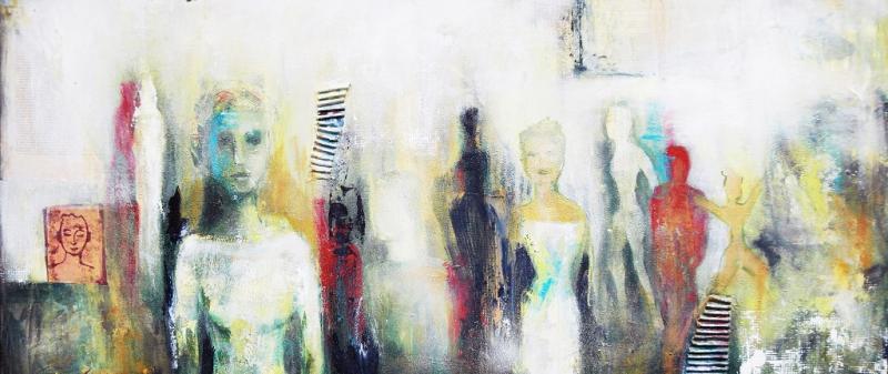 Figur und Abstraktion in der Acrylmalerei