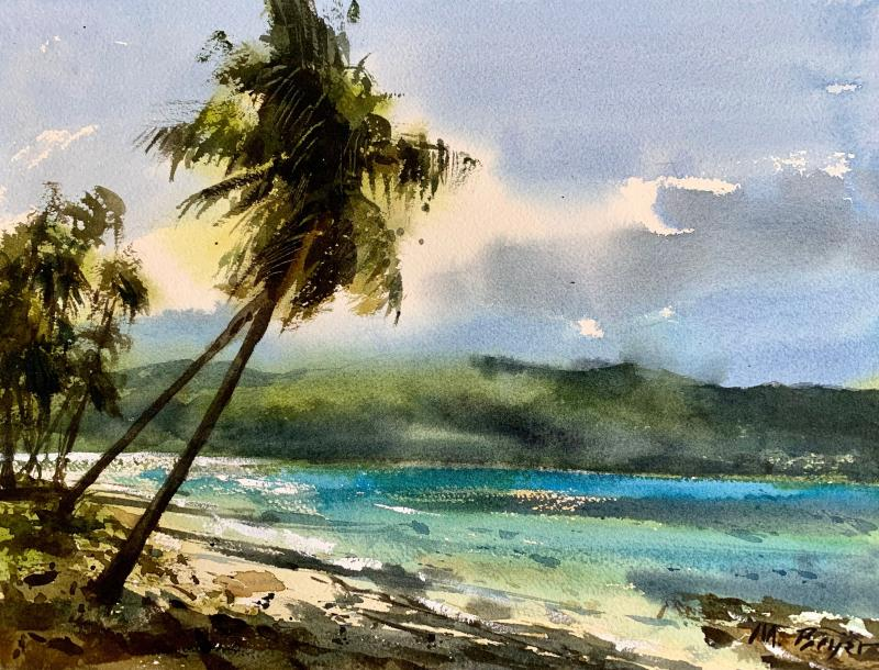 Landschaft aquarellieren