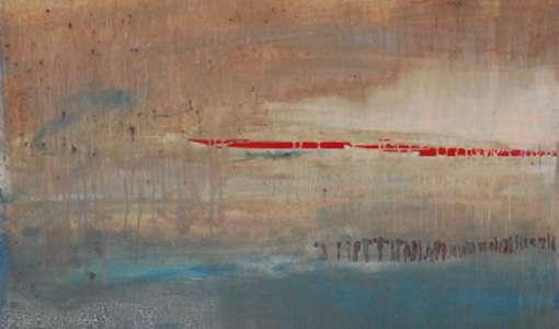 Abstrakte Malerei in Acryl, Lack und Öl