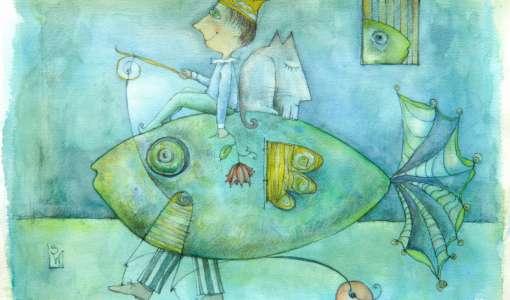 Farbe, Form und Fantasie - Aquarellauswaschtechnik in Kombination mit klassischer Bleistiftzeichnung