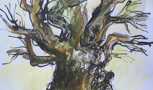 Reihe Zeichnen & Malen: Tusche, Tinte und Feder für Landschaft/Bäume